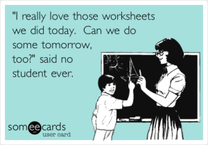 FUNNY WORKSHEET POSTER